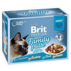 BRIT Premium Cat Delicate Fillets in Gravy Family Plate alutasak 12 x 85 g