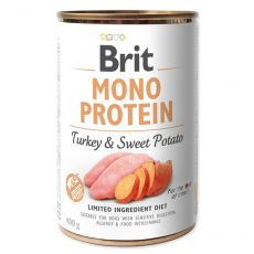 Brit Mono Protein Turkey & Sweet Potato konzerv, 400 g