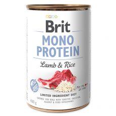 Brit Mono Protein Lamb & Rice konzerv, 400 g