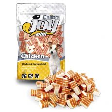 Jutalomfalatok - Calibra Joy Mini Chicken & Cod Sandwich 70 g