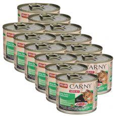 CARNY ADULT eledel marhahússal, pulykával és nyúlhússal 12 x 200 g