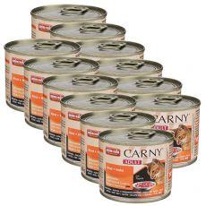 CARNY ADULT nedves macskaeledel, marha és csirke 12 x 200 g