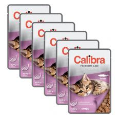 CALIBRA Cat Kitten lazac darabok szószban 6 x 100 g