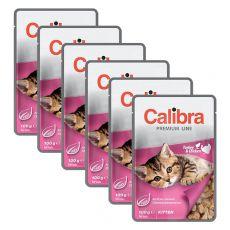 CALIBRA Cat Kitten csirke és pulyka darabok szószban 6 x 100 g