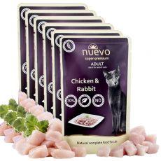 NUEVO CAT Adult Chicken & Rabbit alutasakos macskaeledel 6 x 85 g