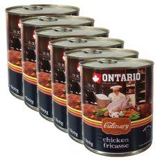ONTARIO Culinary Chicken Fricasse konzerv 6 x 800 g