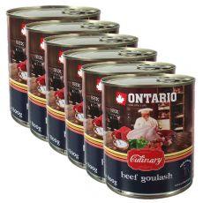 ONTARIO Culinary Beef Goulash konzerv 6 x 800 g