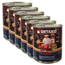 ONTARIO Culinary Minestrone Chicken and Pork konzerv 6 x 800 g
