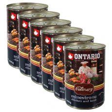 ONTARIO Culinary Minestrone Chicken and Lamb konzerv 6 x 400 g