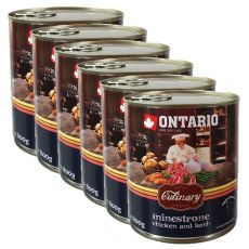 ONTARIO Culinary Minestrone Chicken and Lamb konzerv 6 x 800 g