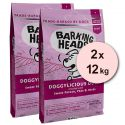 BARKING HEADS Doggylicious Duck GF ADULT 2 x 12 kg