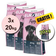 EUROBEN 30-16 Puppy, 3 x 20 kg + 20 kg GRATIS