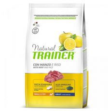 Trainer Natural Small and Toy Adult, marhahús és rizs 2 kg