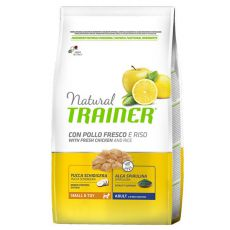 Trainer Natural Small and Toy Adult, csirke és rizs 2 kg