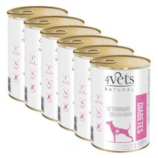 4Vets Natural Veterinary Exclusive DIABETES 6 x 400 g