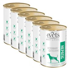 4Vets Natural Veterinary Exclusive HEPATIC 6 x 400 g