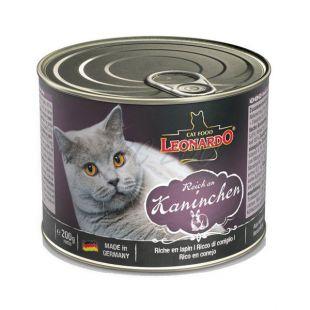Nyúlhúsos konzerv macskának Leonardo - 200 g