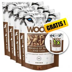 WOOLF Triangle of Rabbit and Cod 5 x 100g, 4+1 GRÁTISZ