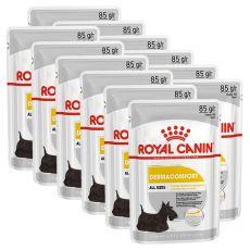 Royal Canin Dermacomfort Dog Loaf alutasakos pástétom bőrproblémákkal küzdő kutyák számára 12 x 85 g