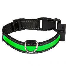 EYENIMAL világító USB nyakörv, zöld S