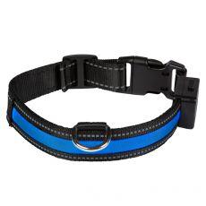 EYENIMAL világító USB nyakörv, kék L