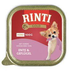 Rinti Gold Mini Adult kacsa- és csirkehúsos konzerv 100 g