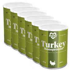 MARTY Turkey Monoprotein konzerv 6 x 400 g