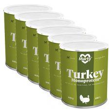 MARTY Turkey Monoprotein konzerv 6 x 800 g