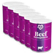 MARTY Beef Monoprotein konzerv 6 x 400 g