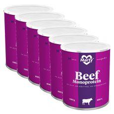 MARTY Beef Monoprotein konzerv 6 x 800 g