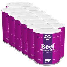 MARTY Beef Monoprotein konzerv 12 x 800 g