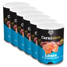 MARTY ProCarnivora Salmon & Meat Cocktail - lazac & húskoktél konzerv 6 x 400 g