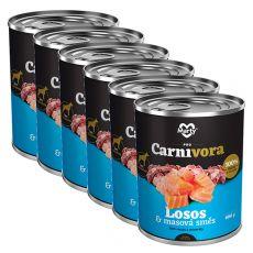 MARTY ProCarnivora Salmon & Meat Cocktail - lazac & húskoktél konzerv 6 x 800 g