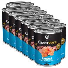 MARTY ProCarnivora Salmon & Meat Cocktail - lazac & húskoktél konzerv 12 x 800 g