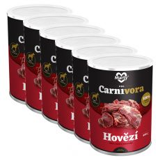 MARTY ProCarnivora Beef - marha konzerv 6 x 400 g