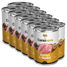 MARTY ProCarnivora Chicken & Beef konzerv macskák számára 12 x 400 g