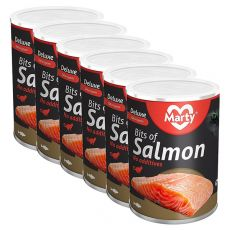MARTY Deluxe Bits of Salmon konzerv macskáknak 6 x 400 g