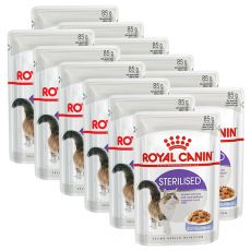 Royal Canin STERILISED in Jelly 12 x 85 g - zselé alutasakban