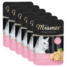 Miamor Feine Filets alutasakos eledel tonhal és rák zselében 6 x 100 g