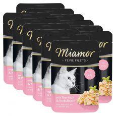 Miamor Feine Filets alutasakos eledel tonhal és rák zselében 12 x 100 g