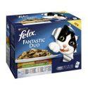 Felix Fantastic Duo alutasakos macskaeledel, ízletes zöldség válogatás aszpikban 12 x 100 g