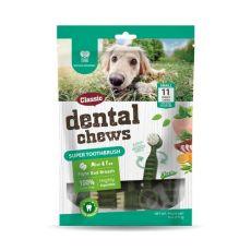 DENTAL Super Toothbrush rágórúd - borsmenta és tea 170 g / 11 db