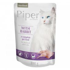 Piper Cat Sterilised alutasakos eledel nyúlhússal 100 g