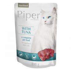 Piper Cat Sterilised alutasakos eledel tonhallal 100 g