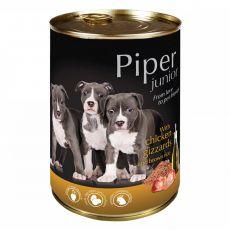Piper Junior konzerv csirke gyomorral és barna rizzsel 400 g