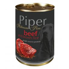 Piper Platinum Pure kutyakonzerv marhahús és barna rizs 400 g