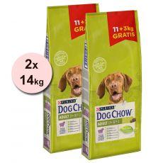 PURINA DOG CHOW ADULT Lamb 2 x 11 + 6 kg GRÁTISZ