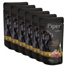 Piper Adult alutasakos eledel csirkeszívvel és barna rizzsel 6 x 150 g