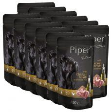 Piper Adult alutasakos eledel csirkeszívvel és barna rizzsel 12 x 150 g