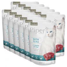 Piper Cat Sterilised alutasakos eledel tonhallal 12 x 100 g